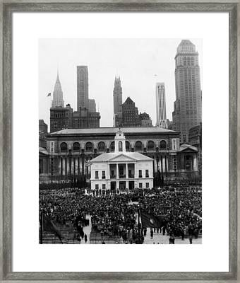 New Yorks Observance Of George Framed Print by Everett
