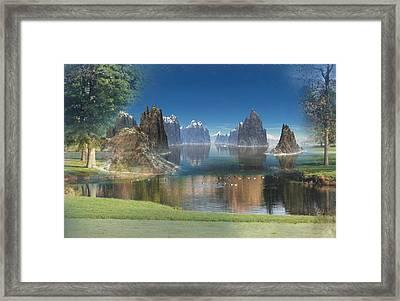 New Zealand Digital Painting. Framed Print by Heinz G Mielke