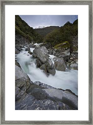 New Zealand Landscape Framed Print by Ng Hock How