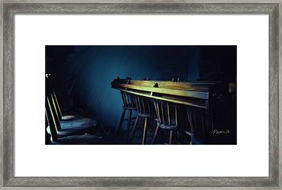New Zealand Series - St. Ozwald's Choir Loft Framed Print by Jim Pavelle