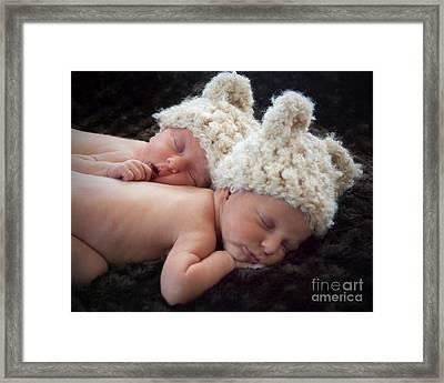 Newborn Twins Framed Print