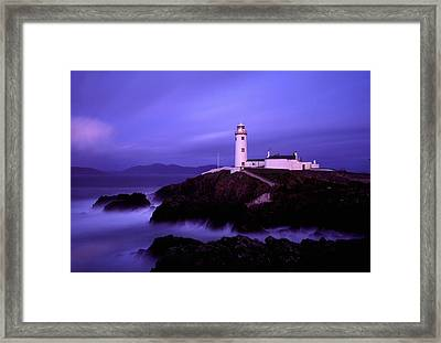 Newcastle, Co Down, Ireland Lighthouse Framed Print by The Irish Image Collection