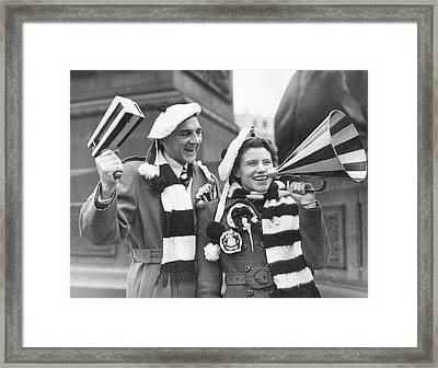 Newcastle Fans Framed Print by Douglas Miller