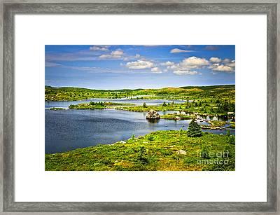 Newfoundland Landscape Framed Print by Elena Elisseeva