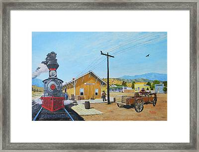 Newhall Station Framed Print