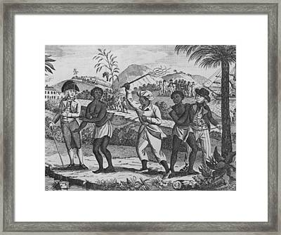 Newly Arrived African Captives Framed Print by Everett