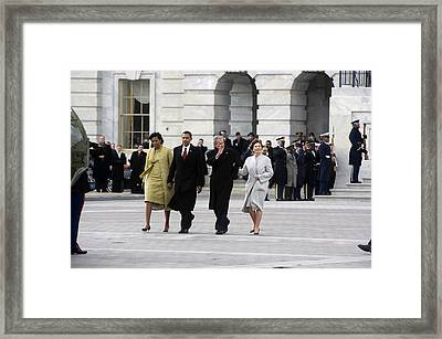Newly Installed President Obama Framed Print