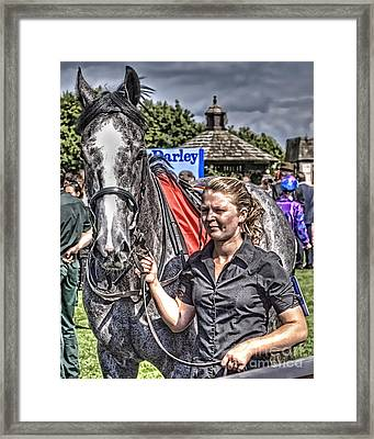 Framed Print featuring the photograph Newmarket Races I by Jack Torcello