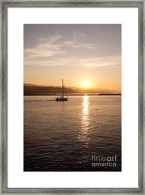 Newport Bay Corona Del Mar Sunrise Framed Print by Paul Velgos