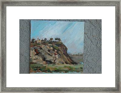 Newport Beach Back Bay Cliff Framed Print
