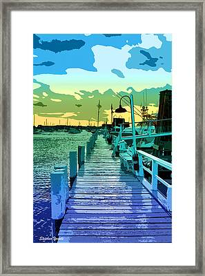 Newport Docks Framed Print by Stephen Younts