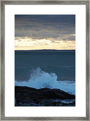 Newport Evening Waves Framed Print by Dickon Thompson