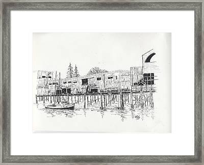 Newport Oregon Waterfront Framed Print