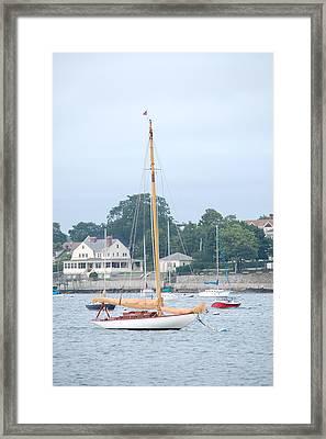 Newport Ri Wooden Sailboat Framed Print