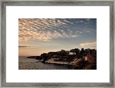 Framed Print featuring the photograph Newport Vibrant Morning by Nancy De Flon