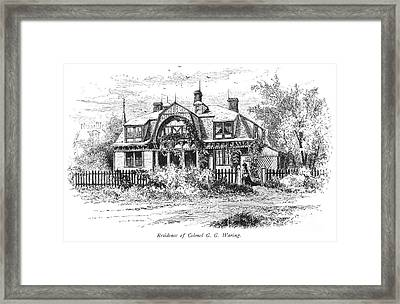 Newport: Villa, C1876 Framed Print by Granger