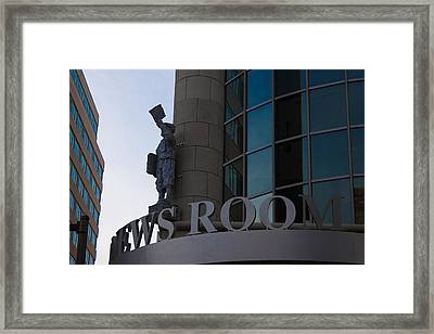 Framed Print featuring the photograph News Room by Stephanie Nuttall