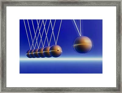 Newton's Cradle Framed Print by Pasieka