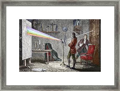 Newton's Optics Framed Print by Sheila Terry