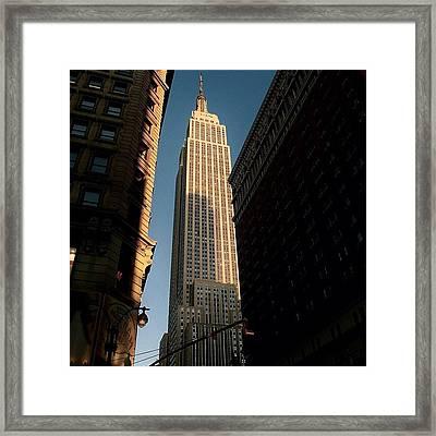#newyorker #newyork #ny #empire Framed Print