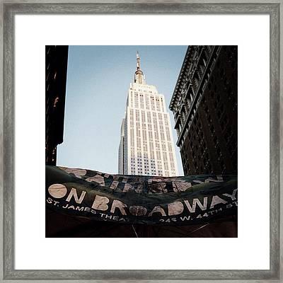 #newyorker #newyork #ny #empirestate Framed Print