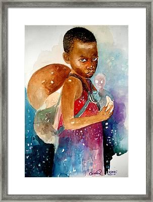 Next Of Kin Framed Print by Okwir Isaac