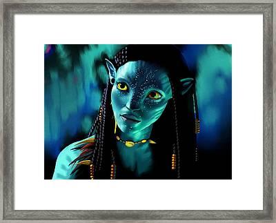 Neytiri Framed Print by Laura Steelman