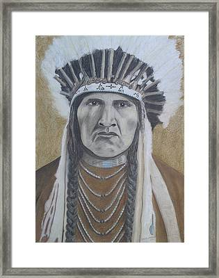 Nez Perce American Native Indian Framed Print by David Hawkes