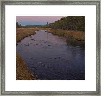 Nez Perce Creek At Yellowstone Framed Print by Twenty Two North Photography