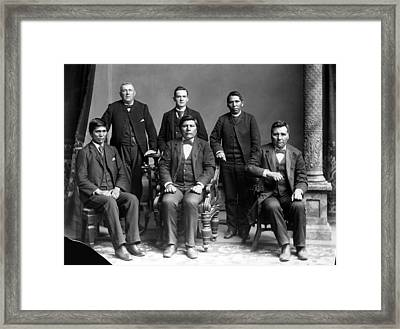Nez Perce Delegates With Benjamin Framed Print