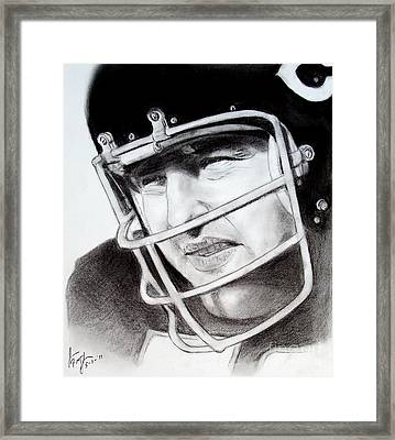 Nfl Hall Of Fame Player Dick Butkus Of The Chicago Bears Framed Print