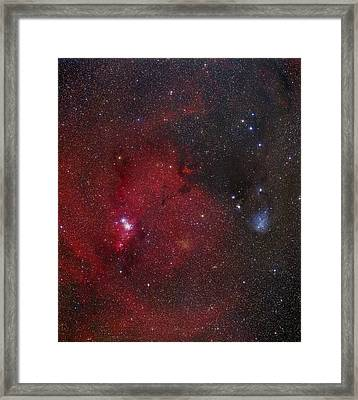 Ngc 2264 Nebulae Framed Print by Mpia-hd, Birkle, Slawik