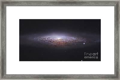 Ngc 2683, Unbarred Spiral Galaxy Framed Print by Robert Gendler