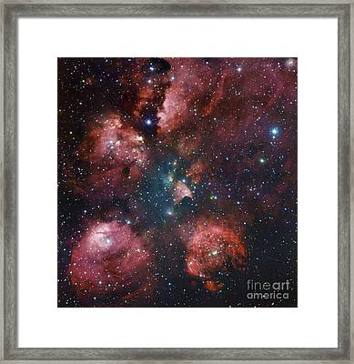 Ngc 6334, The Cats Paw Nebula Framed Print