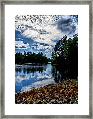 Framed Print featuring the photograph Nh Lake 2 by Edward Myers
