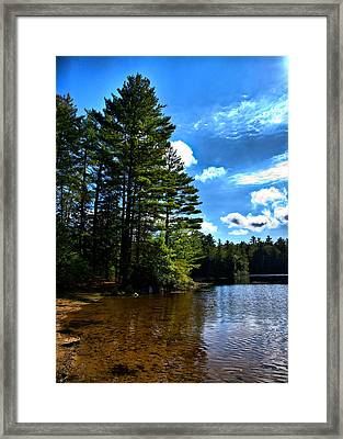 Framed Print featuring the photograph Nh Lake 3 by Edward Myers