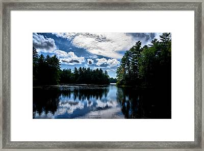Framed Print featuring the photograph Nh Lake  by Edward Myers