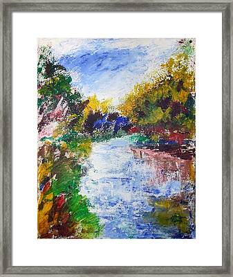 Nh Landscape Framed Print by Michel Croteau