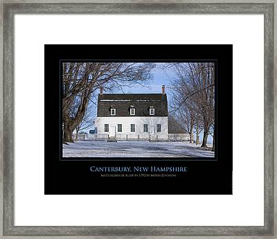 Nh Meetinghouse Framed Print by Jim McDonald Photography