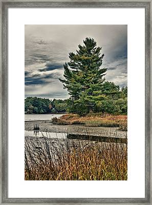 Framed Print featuring the photograph Nh Waterway 3 by Edward Myers