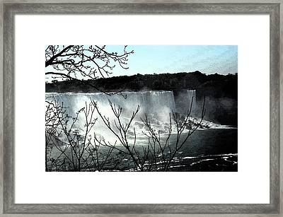 Framed Print featuring the photograph Niagar Falls by Pravine Chester