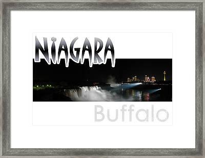 Niagara At Night Framed Print by Syed Aqueel