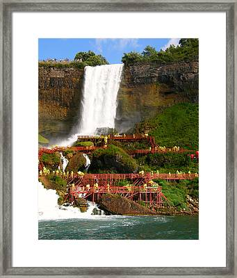 Framed Print featuring the photograph Niagara Falls Cave Of The Winds by Mark J Seefeldt