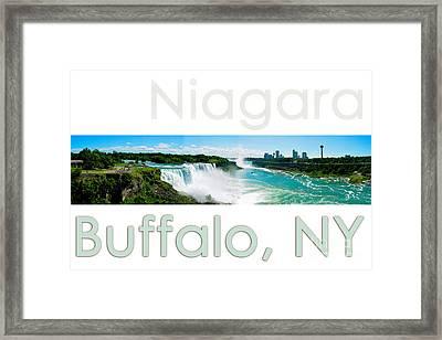 Niagara Falls Day Panorama Framed Print by Syed Aqueel