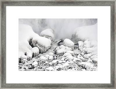 Niagara Falls Frozen Abstract 1 Framed Print by J R Baldini Master Photographer