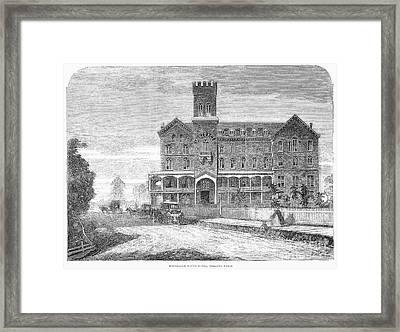 Niagara Falls Hotel, 1863 Framed Print by Granger