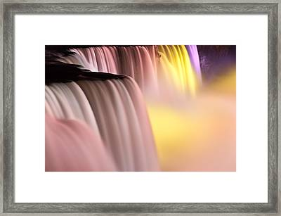 Niagara Falls Illuminations Number 2 Framed Print