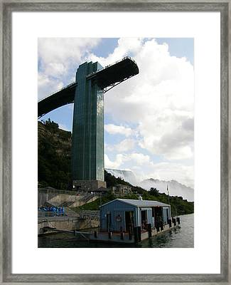 Framed Print featuring the photograph Niagara Falls Observation Platform And Maid Of The Mist Tour by Mark J Seefeldt