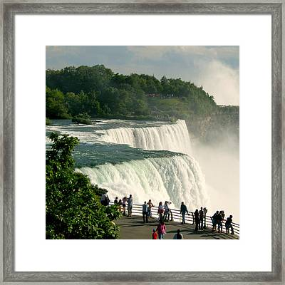 Framed Print featuring the photograph Niagara Falls State Park by Mark J Seefeldt