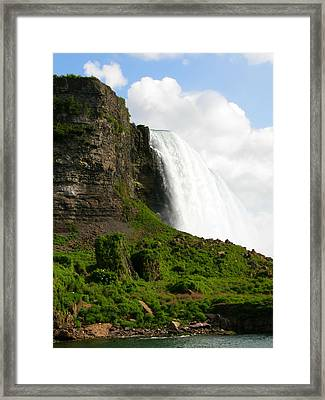 Framed Print featuring the photograph Niagara Falls Us Side by Mark J Seefeldt